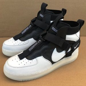 NIKE AIR FORCE 1 UTILITY MID ORCA OFF WHITE BLACK